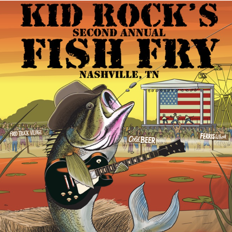 Lucky cowboy nashville news for Kid rock fish fry